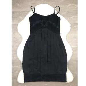 Sue Wong Little Black Dress Bubble Pleated